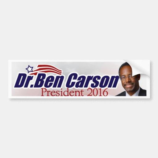 Ben Carson para el presidente pegatina para el par Etiqueta De Parachoque