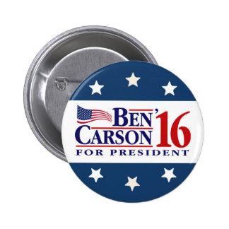 Ben Carson para el presidente Pin Redondo 5 Cm