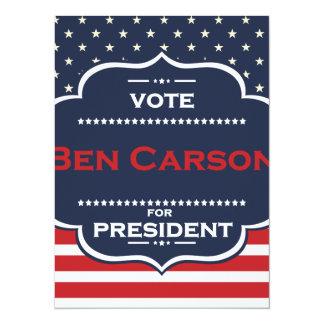 ben carson president card