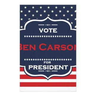 ben carson president stationery