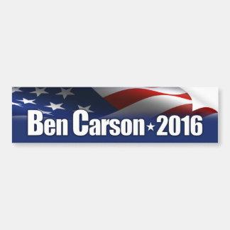 Ben Carson - presidente 2016 Pegatina Para Auto