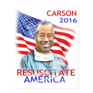 Ben Carson-Resuscitate America 2016 USA Flag Postcard