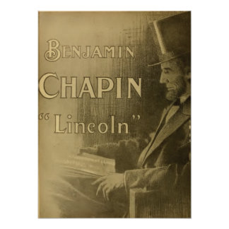 Ben Chapin vintage 1917 image Lincoln movie poster