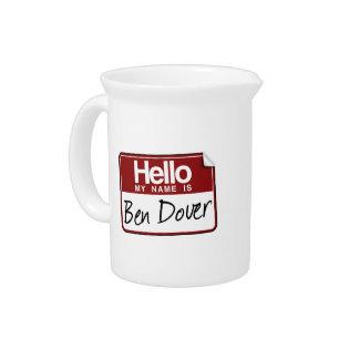 BEN DOVER DRINK PITCHER