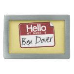 BEN DOVER -.png Belt Buckle