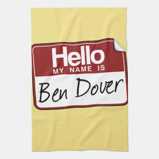 BEN DOVER -.png Hand Towels