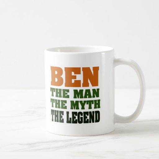 ¡Ben - el hombre, el mito, la leyenda! Tazas De Café
