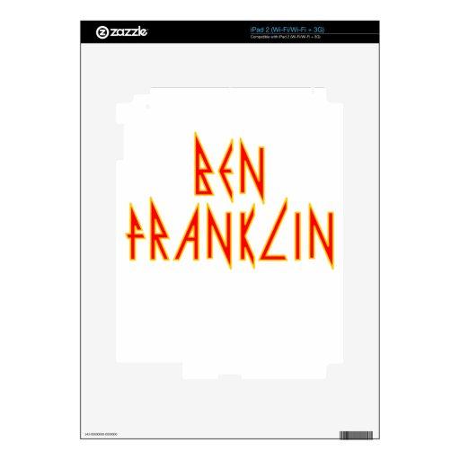 Ben eléctrico Franklin Calcomanía Para iPad 2