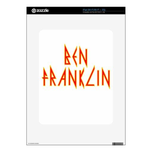 Ben eléctrico Franklin iPad Skin