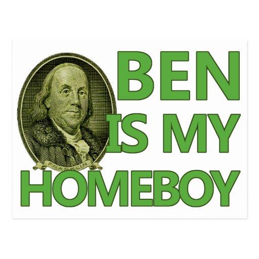 Ben es mi Homeboy Tarjeta Postal