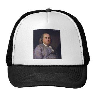"""Ben Franklin """"amor Thy Neibhbor pero."""" Regalos de  Gorras De Camionero"""