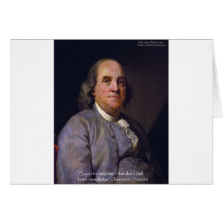 "Ben Franklin ""amor Thy Neibhbor pero."" Regalos de  Tarjeta"