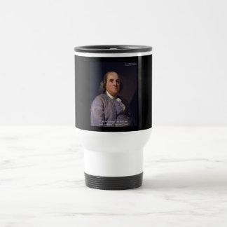 """Ben Franklin """"amor Thy Neibhbor pero."""" Regalos de  Tazas De Café"""