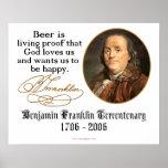 Ben Franklin - Beer Poster