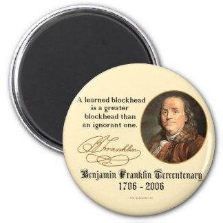 Ben Franklin - Blockheads 2 Inch Round Magnet