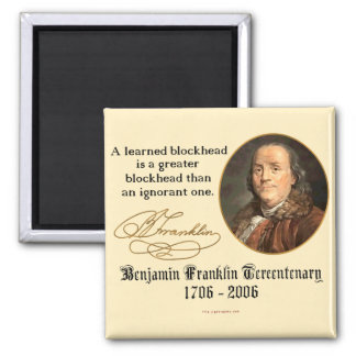 Ben Franklin - Blockheads 2 Inch Square Magnet
