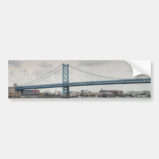 Ben Franklin Bridge Car Bumper Sticker