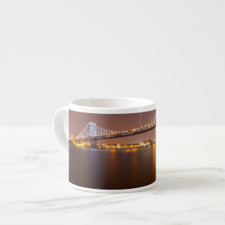 Ben Franklin Bridge Espresso Cup