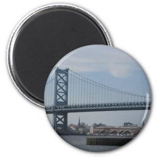 Ben Franklin Bridge Refrigerator Magnets