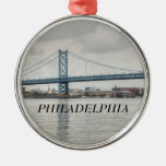 Ben Franklin Bridge Metal Ornament