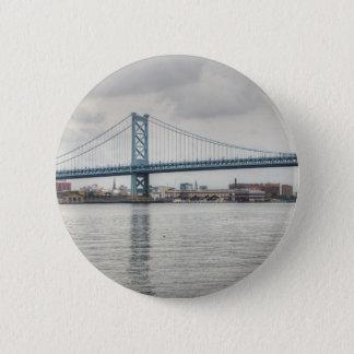 Ben Franklin Bridge Pinback Button