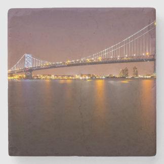 Ben Franklin Bridge Stone Coaster