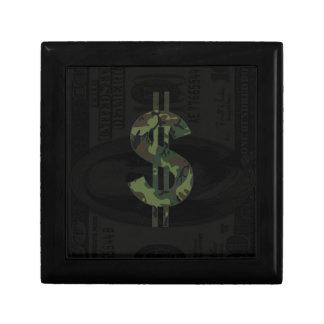 Ben Franklin Camo Money Symbol $100 Keepsake Box