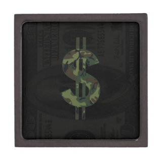 Ben Franklin Camo Money Symbol $100 Premium Jewelry Box