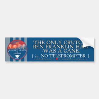Ben Franklin contra pegatina para el parachoques d Pegatina Para Auto