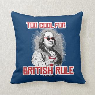 Ben Franklin demasiado fresco para la regla Almohadas