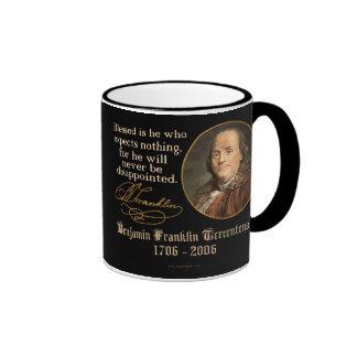 Ben Franklin - Expectations Ringer Mug