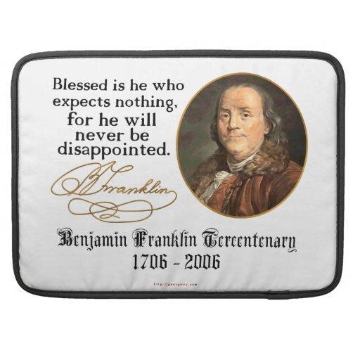 Ben Franklin - expectativas Funda Para Macbook Pro