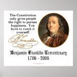 Ben Franklin - felicidad Impresiones
