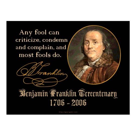 Ben Franklin - Fools Postcard