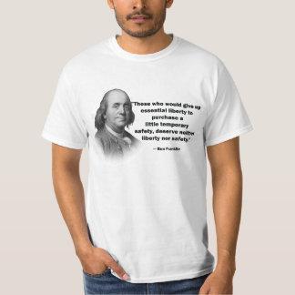 Ben Franklin gun control quote - Men's Shirt