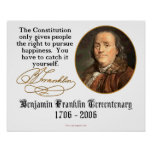 Ben Franklin - Happiness Poster