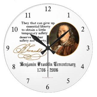 Ben Franklin - Liberty Large Clock