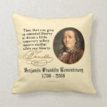 Ben Franklin - Liberty Throw Pillow