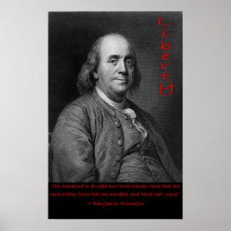 Ben Franklin - los que se mueven Póster