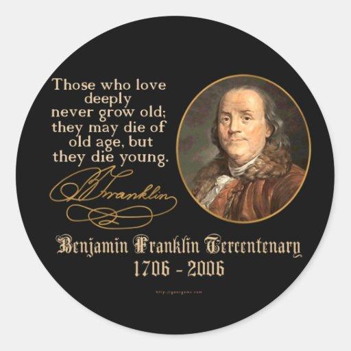 Ben Franklin - Love Classic Round Sticker