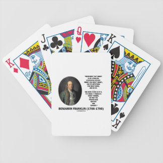 Ben Franklin Money Prolific Generating Nature Bicycle Playing Cards