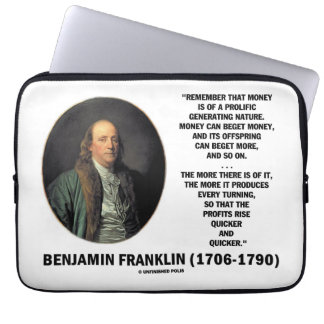 Ben Franklin Money Prolific Generating Nature Computer Sleeve