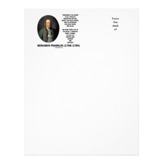 Ben Franklin Money Prolific Generating Nature Letterhead