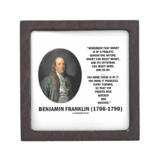 Ben Franklin Money Prolific Generating Nature Premium Trinket Box