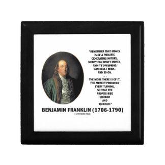 Ben Franklin Money Prolific Generating Nature Trinket Boxes