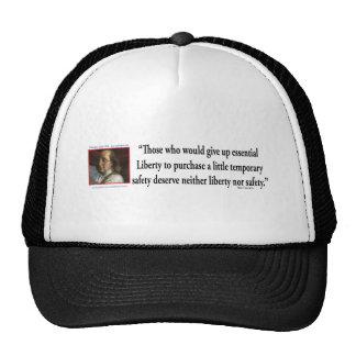 Ben Franklin on Liberty Trucker Hat