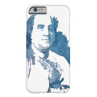 Ben Franklin Pop Art Portrait in Blue Barely There iPhone 6 Case