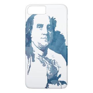 Ben Franklin Pop Art Portrait in Blue iPhone 8 Plus/7 Plus Case