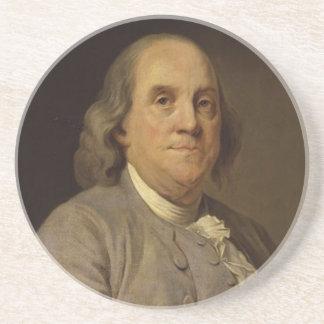 Ben Franklin Portrait Coaster