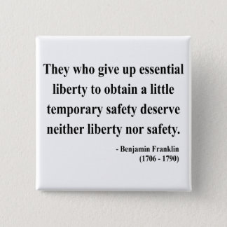 Ben Franklin Quote 1a Button